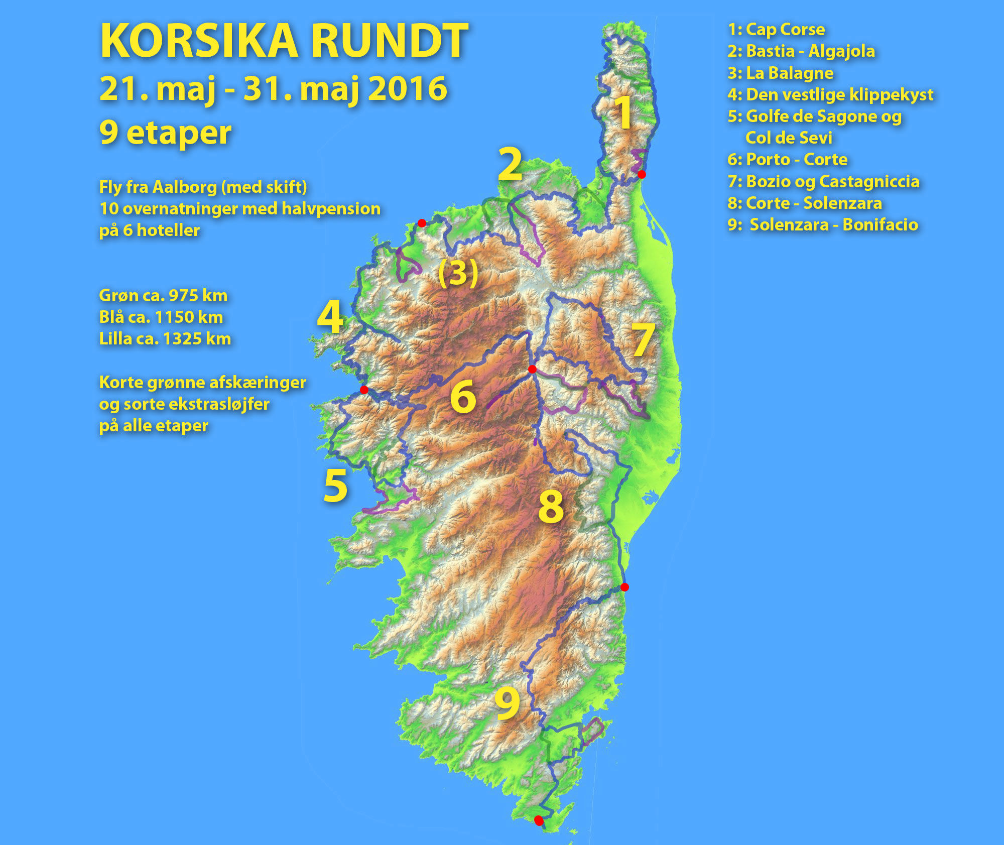 korsika kort Detaljeret Kort Over Korsika | Kort 2019